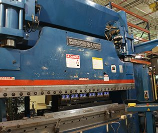 CNC Forming Metal manufacturing Press Brake Equipment located in Milwaukee area