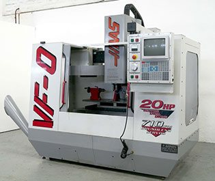 Southeast WI and Northern IL Manufactuing Machine Shop Equipment - Hass 20 x 24 CNC Mill 4 Axis at GHI Laser