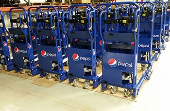 Pepsi Cola delivery Carts - manufactured by GHI Laser using CNC Mandrel Tube Bender equipment