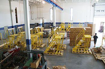 Final process of partial assembly of SpaceX service platforms by GHI Laser in the WI and IL areas