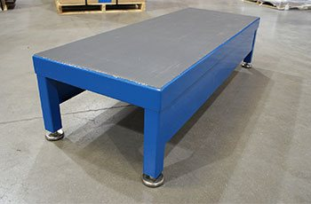 Custom step platform using client specifications and standards in metal processing manufacturing and CNC plant in WI