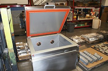 Custom fabricated stainless steel hot box - TIG Welded at GHI Laser WI facility